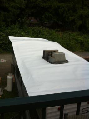 TPO Roofing on RV roof Duncan BC